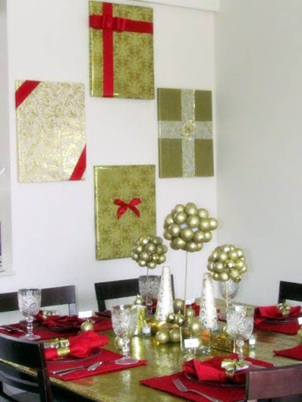 Christmas Wall Decorations Ideas To Deck Your Walls Christmas Celebration All About Christmas Holiday Wall Decor Diy Christmas Wall Christmas Wall Decor
