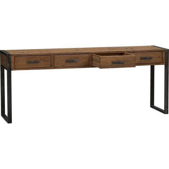 Woodland Console Table In Coffee Tables Side Tables Crate And