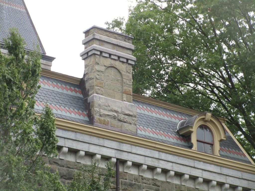 Cornell University Ithaca Ny Usa With North Country Unfading Black Slate Roof With Red And Green Pattern Slate Roof North Country Slate Roof Tiles