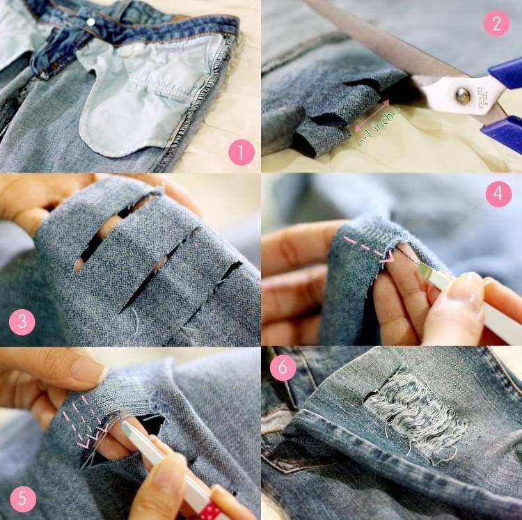 comment faire un jean trou femme la tendance irr sistible more d chirer jeans and faire ideas. Black Bedroom Furniture Sets. Home Design Ideas