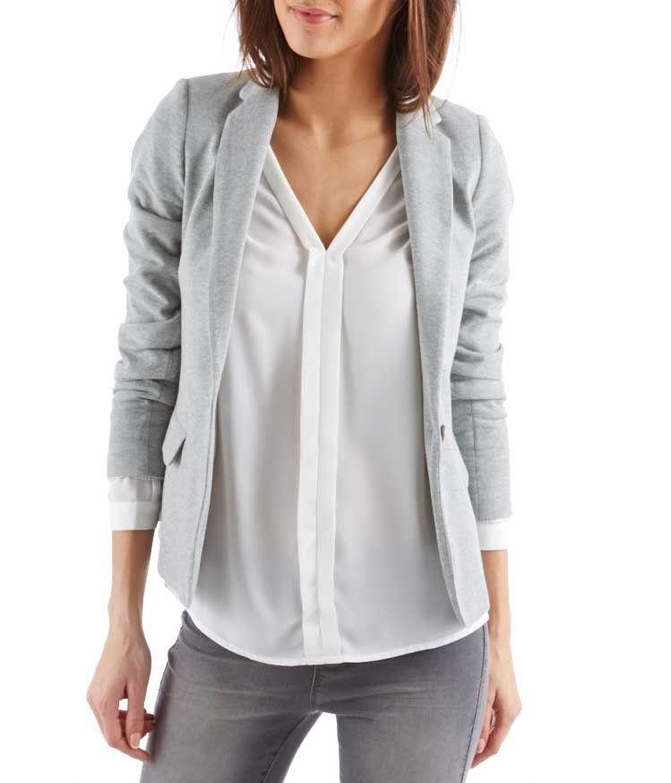 Veste grise tailleur