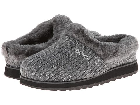BOBS from SKECHERS Womens Keepsakes - Star Brightl Charcoal - Slippers