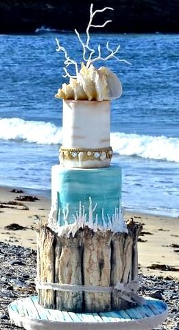 Beach wedding cake for all your cake decorating supplies please beach wedding cake junglespirit Gallery