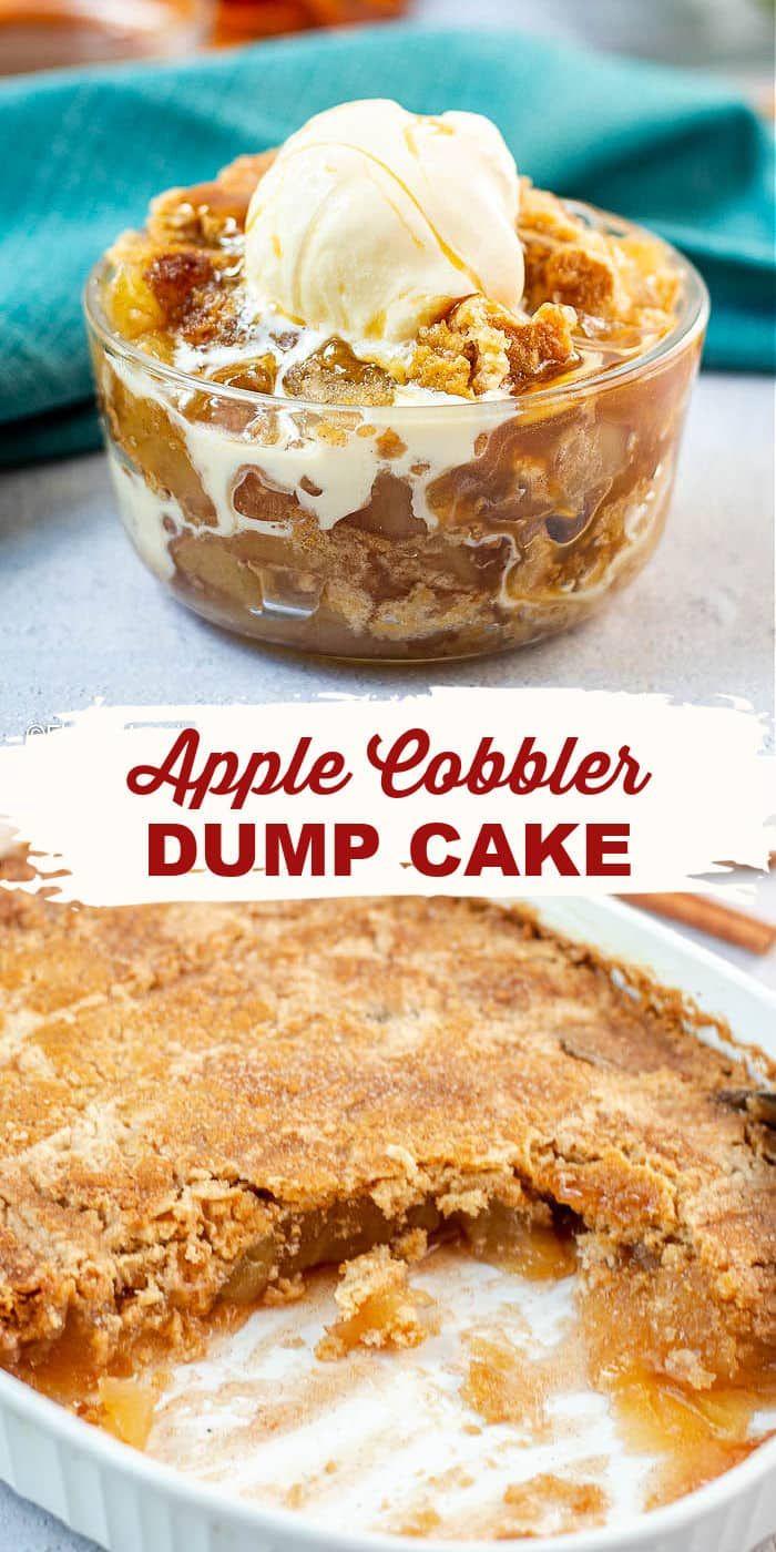 Apple Dump Cake with Caramel Sauce - Flavor Mosaic