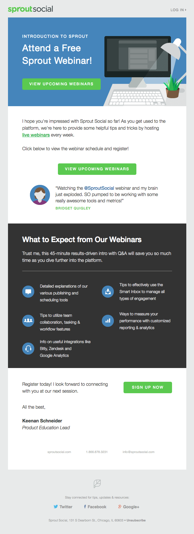 Invitation] Intro to Sprout Webinar - Really Good Emails   Email ...