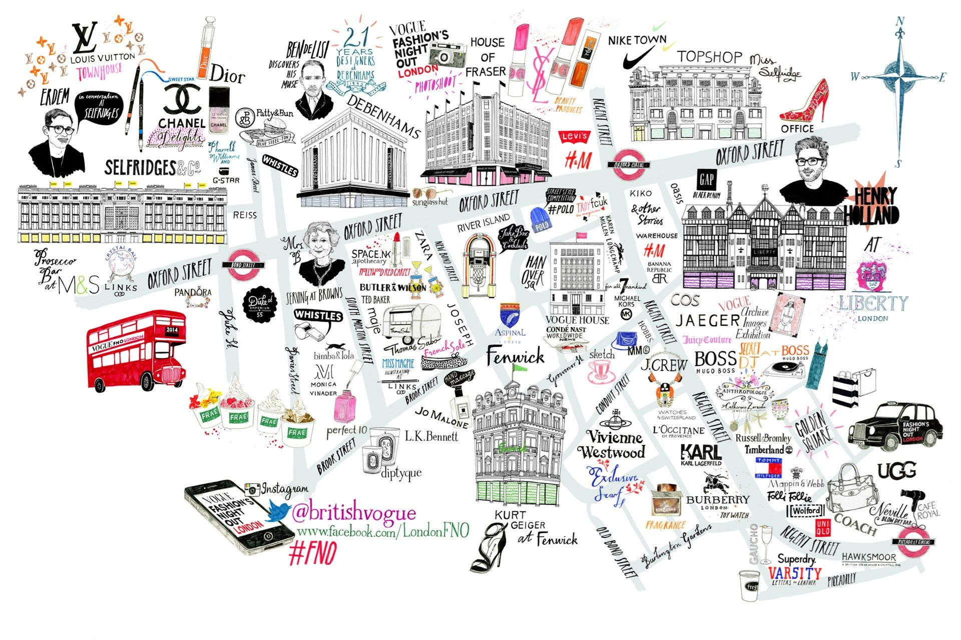 Image Gallery Oxford Circus Shopping Map Places To Go London Map