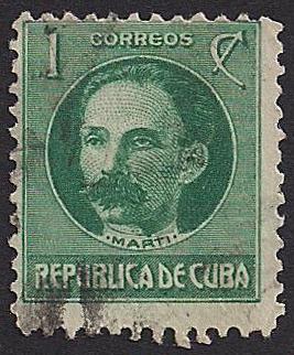 Cuba Postage Stamp 1917 José Martí Sellos Raros Sellos Postales Estampilla Postal