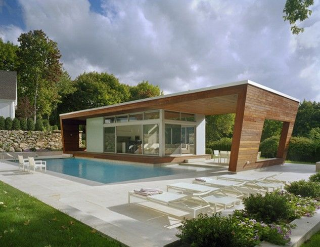 Exterior Amazing Modern Style Wooden Accent House Plans With Pools