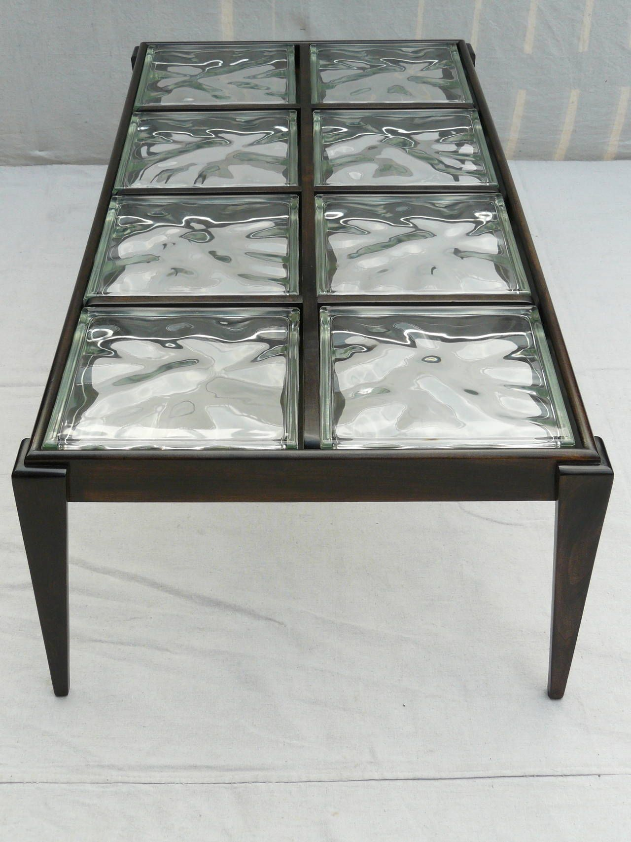40s Glass Block Coffee Table