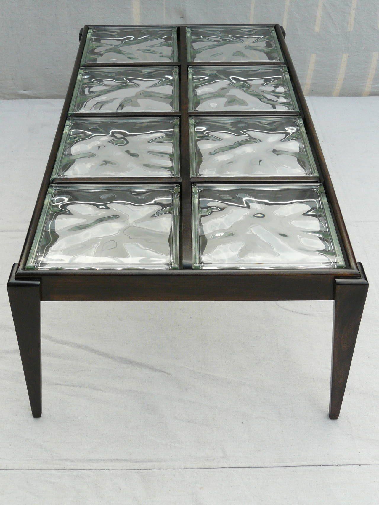 glass block furniture. 40s Glass Block Coffee Table 8 Furniture B