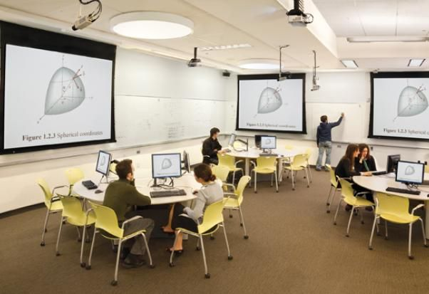Classroom Design Scholarly : Mit s sf teal classroom has a central instructors