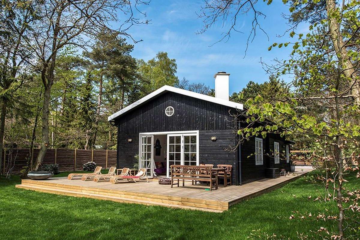 качественной дом на даче в скандинавском стиле фото завязанными