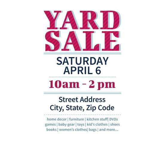 Download this Yard Sale Flyer Template and other free printables - free printable flyer templates