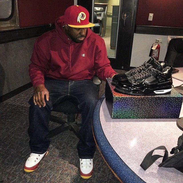 DJ Funk Flex wearing the  Bentley Ellis  Air Jordan IX 9  3f921ac6e2