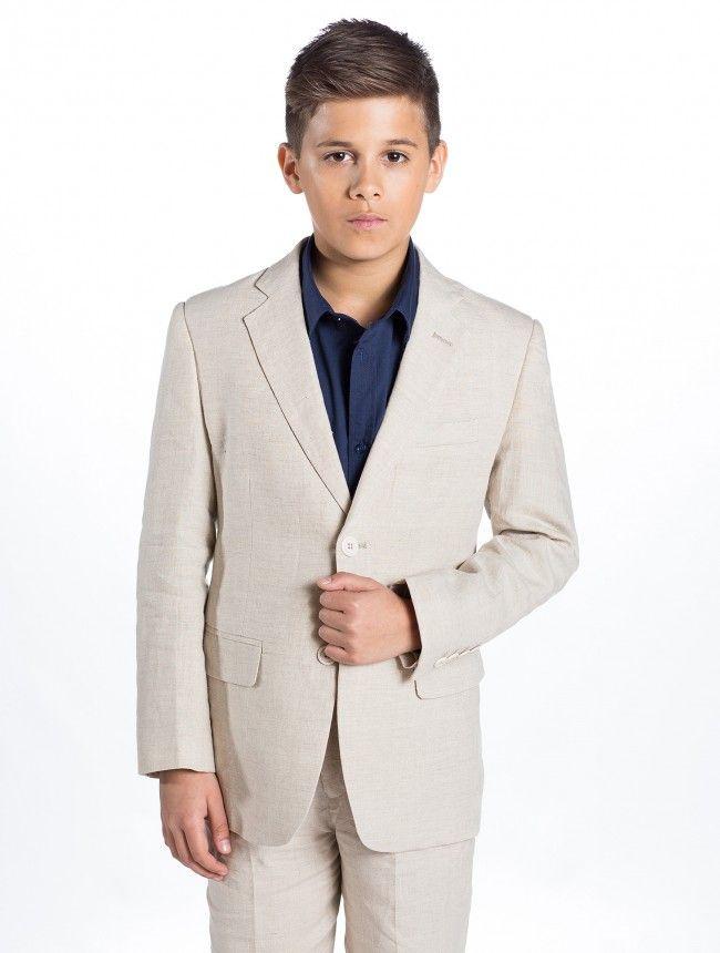 boys beige linen suit | Wedding | Pinterest | Linen suit and Wedding