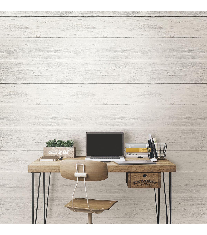 Wallpops Nuwallpaper Shiplap Peel And Stick Wallpaper Joann Peel And Stick Wallpaper Wood Feature Wall Nuwallpaper
