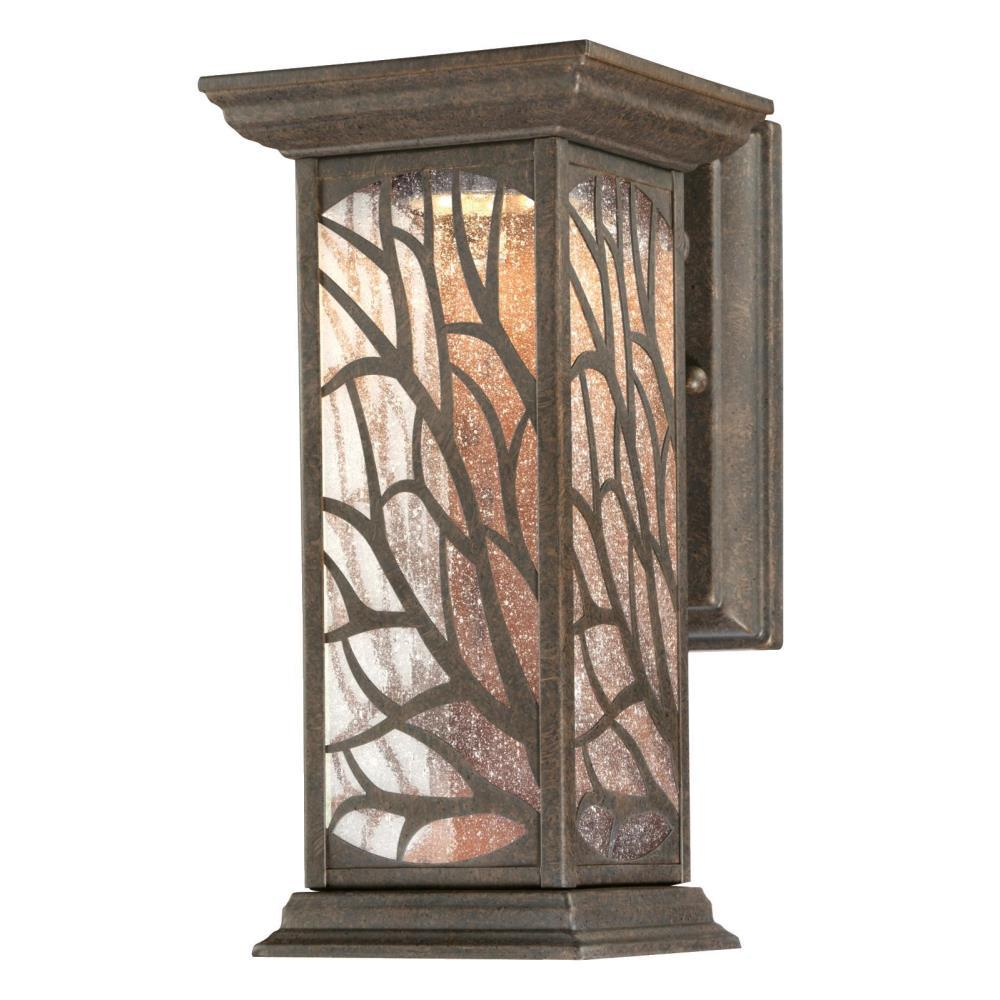 Westinghouse Glenwillow 1 Light Victorian Bronze Outdoor Integrated Led Wall Lantern Sconce 6312000 Oswietlenie