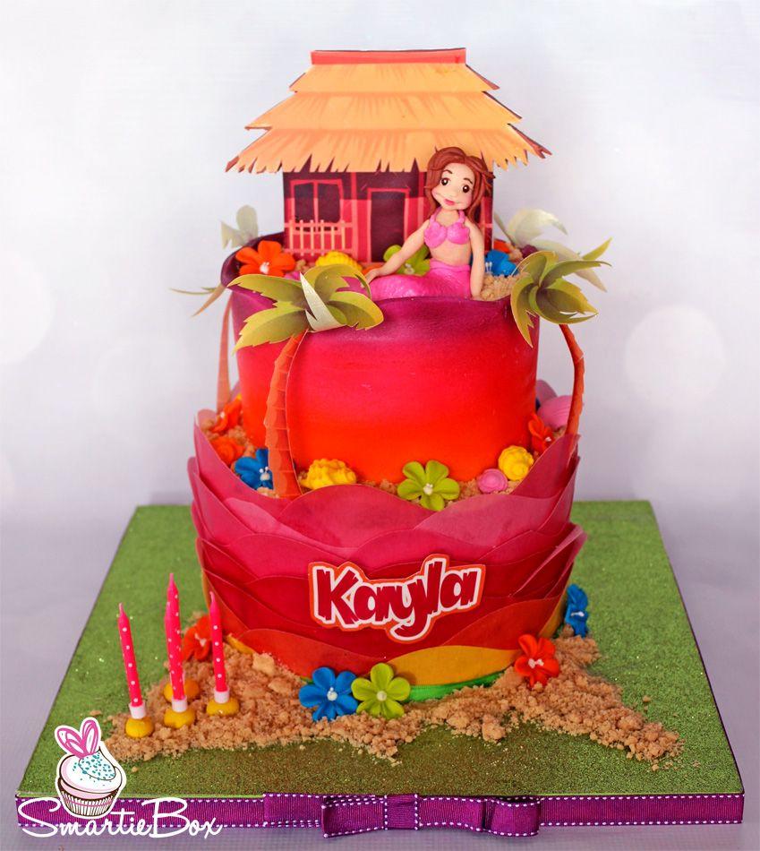 Mermaid Luau Cake - SmartieBox Cake Studio