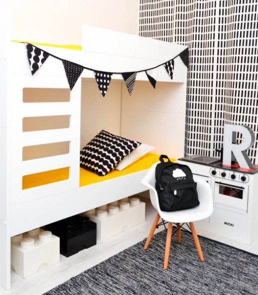 Habitaci n infantil con literas moderna y original en for Habitacion infantil original