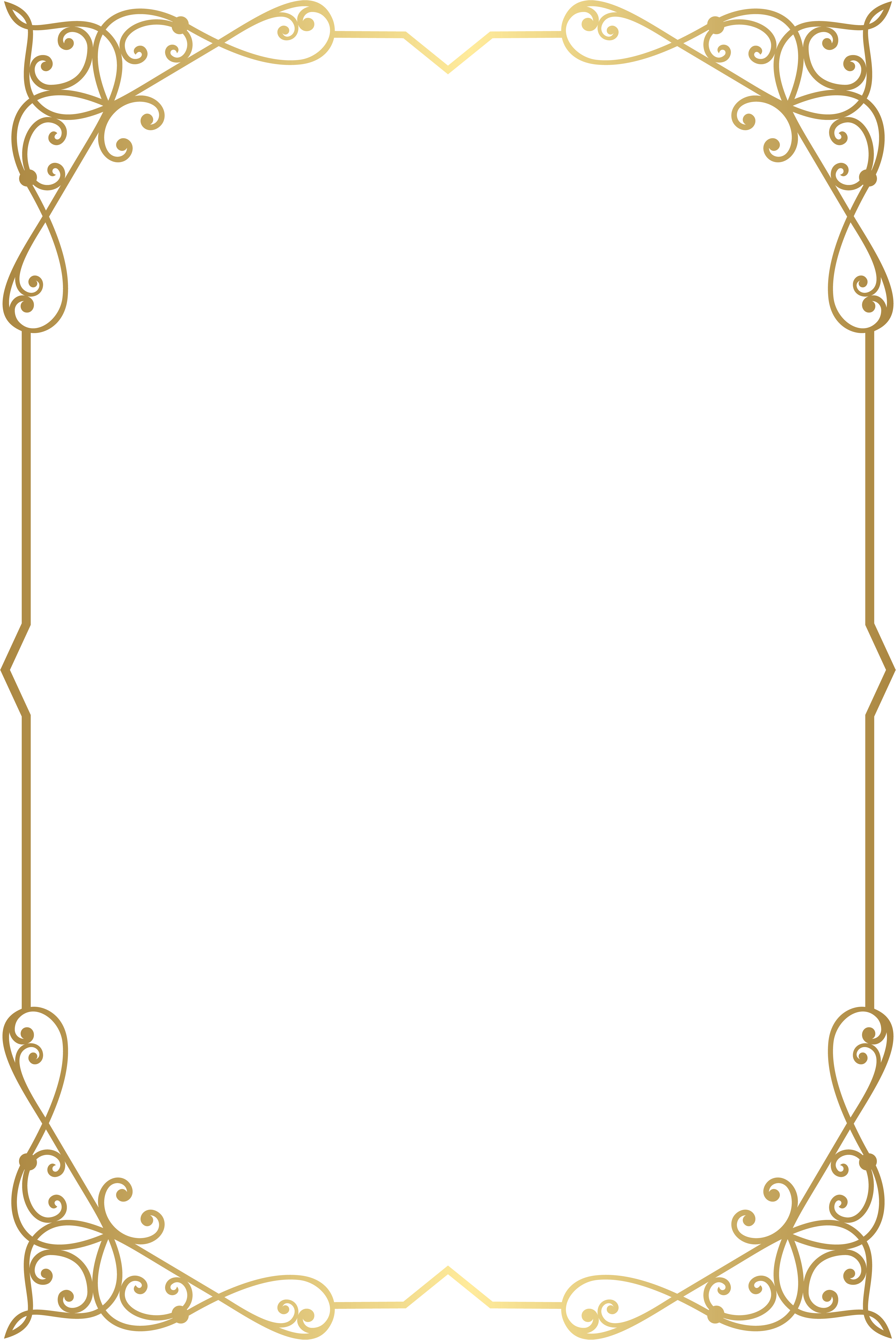 Gold Border Transparent Background : border, transparent, background, Decorative, Frame, Border, Image, Gallery, Fancy, Download,, Transparent, Frames, Borders,, Images