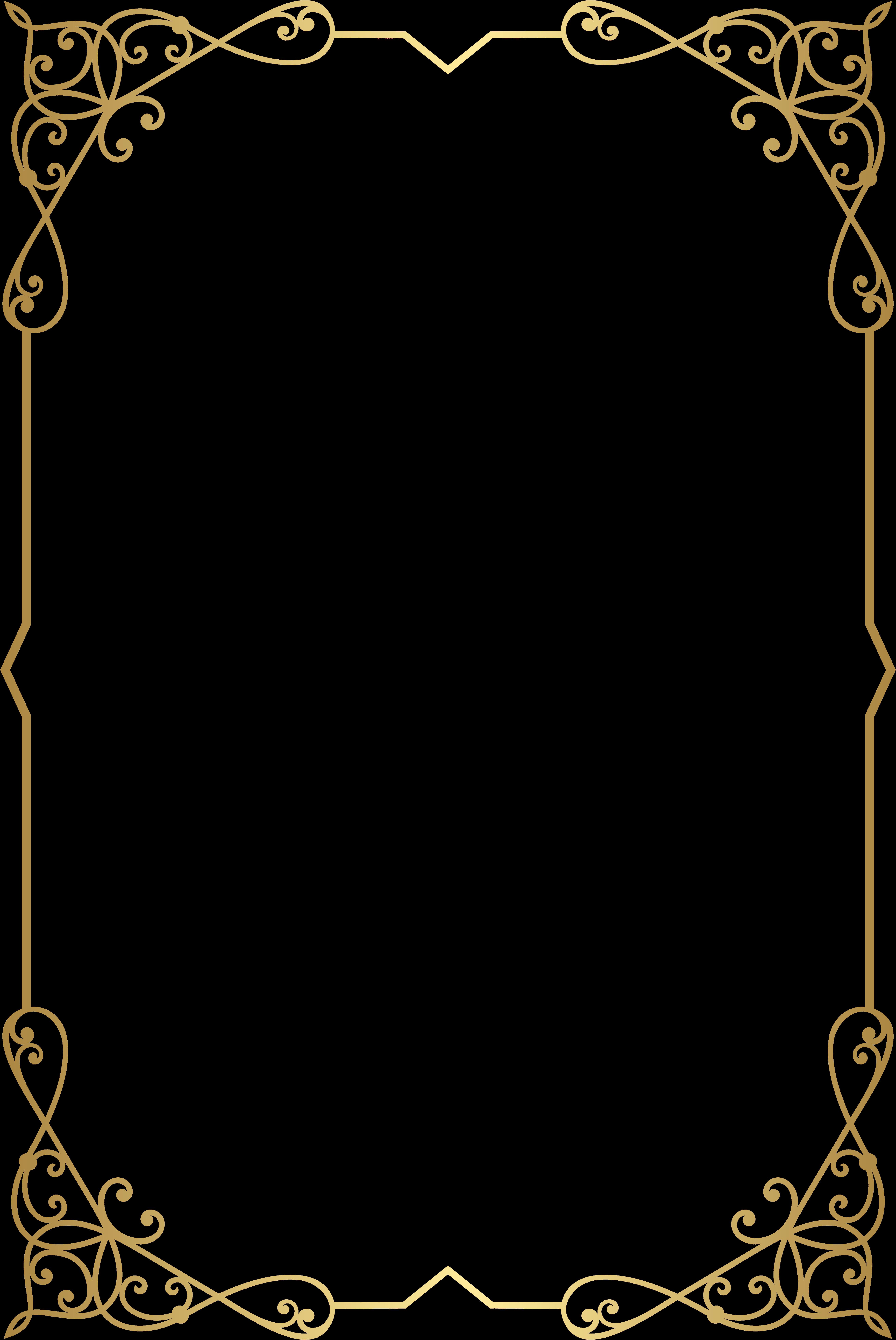 Decorative Frame Border Png Clip Art Image Gallery Fancy Gold Border Png Png Download Transparent Pn In 2021 Clip Art Frames Borders Gold Border Frame Border Design