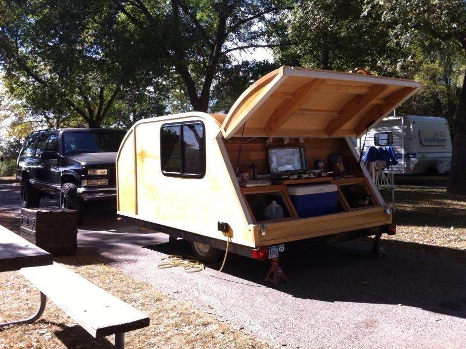 Pop Up Trailer To Teardrop Camper Project Pop Up Trailer