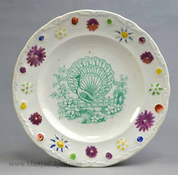 Child S Peacock Plate Circa 1840 More Available To Www Martynedgell Com Plates Peacock Plates Decorative Plates