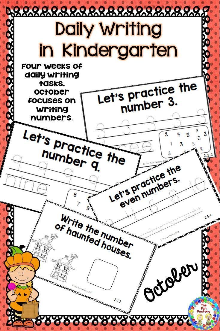 Kindergarten Writing ~ October   Kind