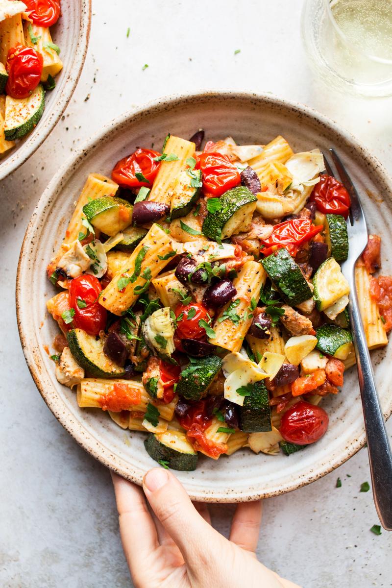 Vegan summer pasta – Lazy Cat Kitchen