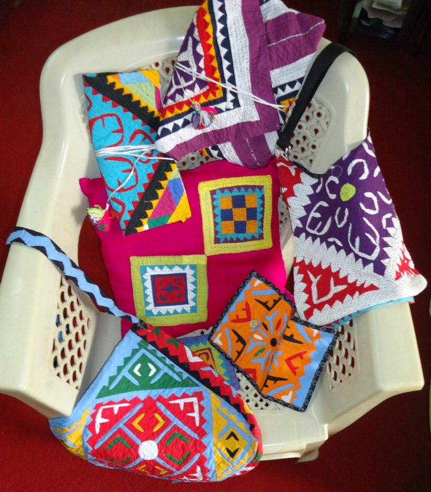 An array of handmade textile products of Lila Handicrafts!
