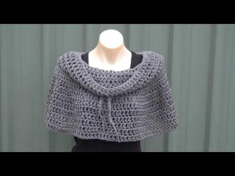 Cowl Neck Poncho Crochet Tutorial Tricot Crochet Pinterest