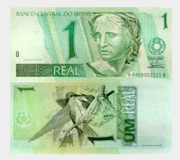 Brasil 1 Real Com Imagens Notas Cedulas Brasileiras