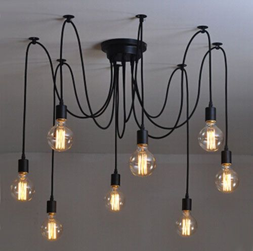 Cheap chandelier modern, Buy Quality modern bulb chandelier directly from  China modern chandelier Suppliers: 8 arm edison bulb Pendant Chandelier  Modern ... - Modern Net Retro Classic Chandelier 8 E27 Spider Lamp Pendant Bulb