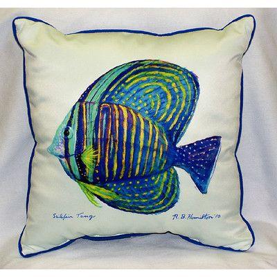 Sailfin Tang Indoor Outdoor Throw Pillow Indoor Outdoor Pillows Outdoor Pillows Throw Pillows