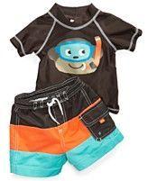 Carters Baby Swimwear, Baby Boys Monkey Rashguard and Swim Shorts - toddler boy swimsuit - #Baby #Bo...