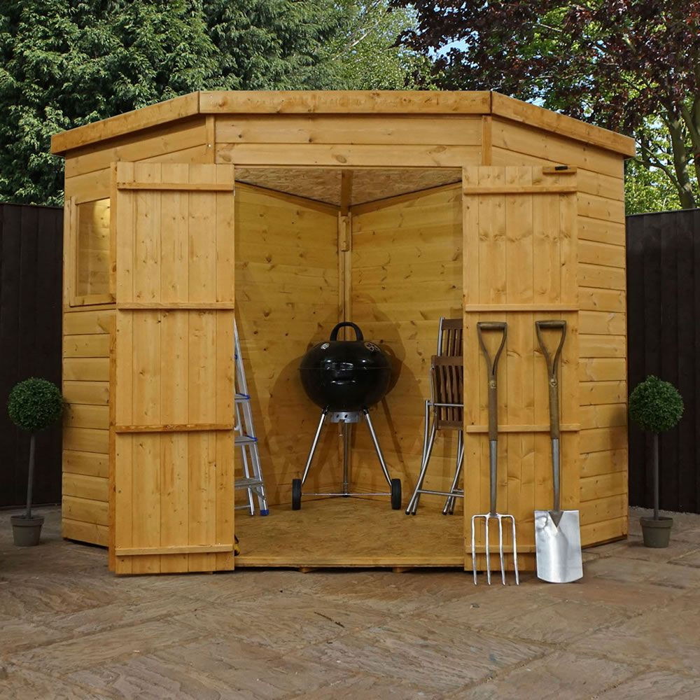 7x7 Corner Shed 360 Walton Garden Buildings Ltd