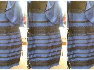 Robe blanche or et bleu