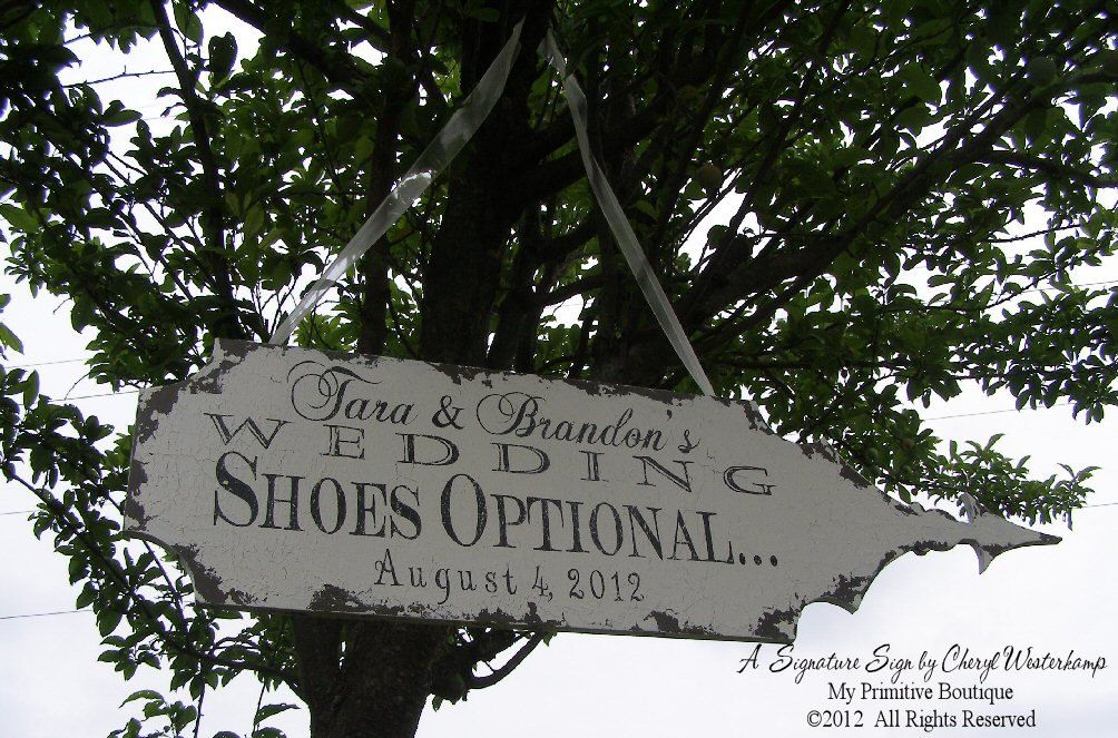 Vintage VICTORIAN WEDDING ARROW, Shabby Chic Wedding Sign, 36x10, Love Birds,  Directional Arrow, Signature Sign by Cheryl Westerkamp. $79.00, via Etsy.