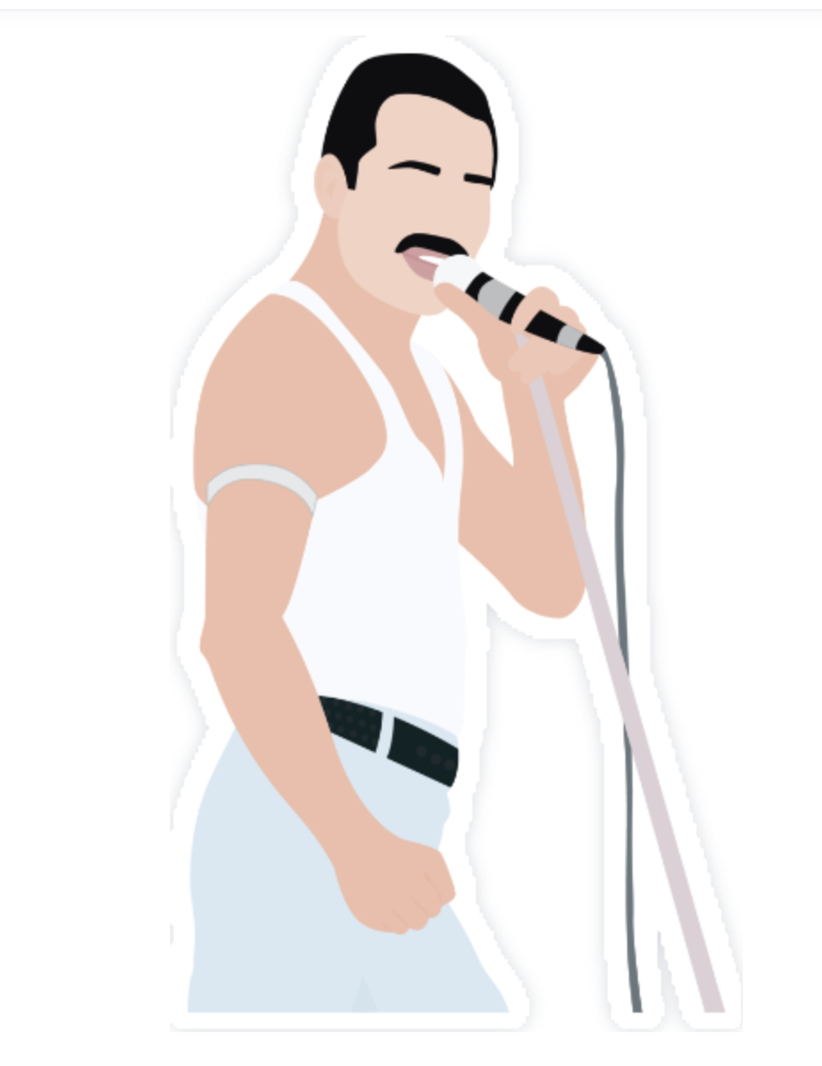 Freddie Mercury Sticker By Kgrant112 In 2021 Freddie Mercury B Tattoo Band Stickers
