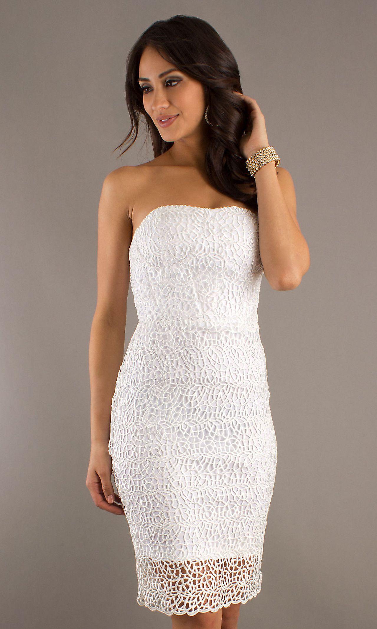 Knee Length Strapless Dress DI-K0190A