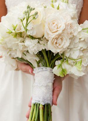 lace bouquet wrap | Adam Barnes