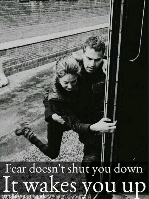 Fear doesn't shut you down. It wakes you up. Classic.