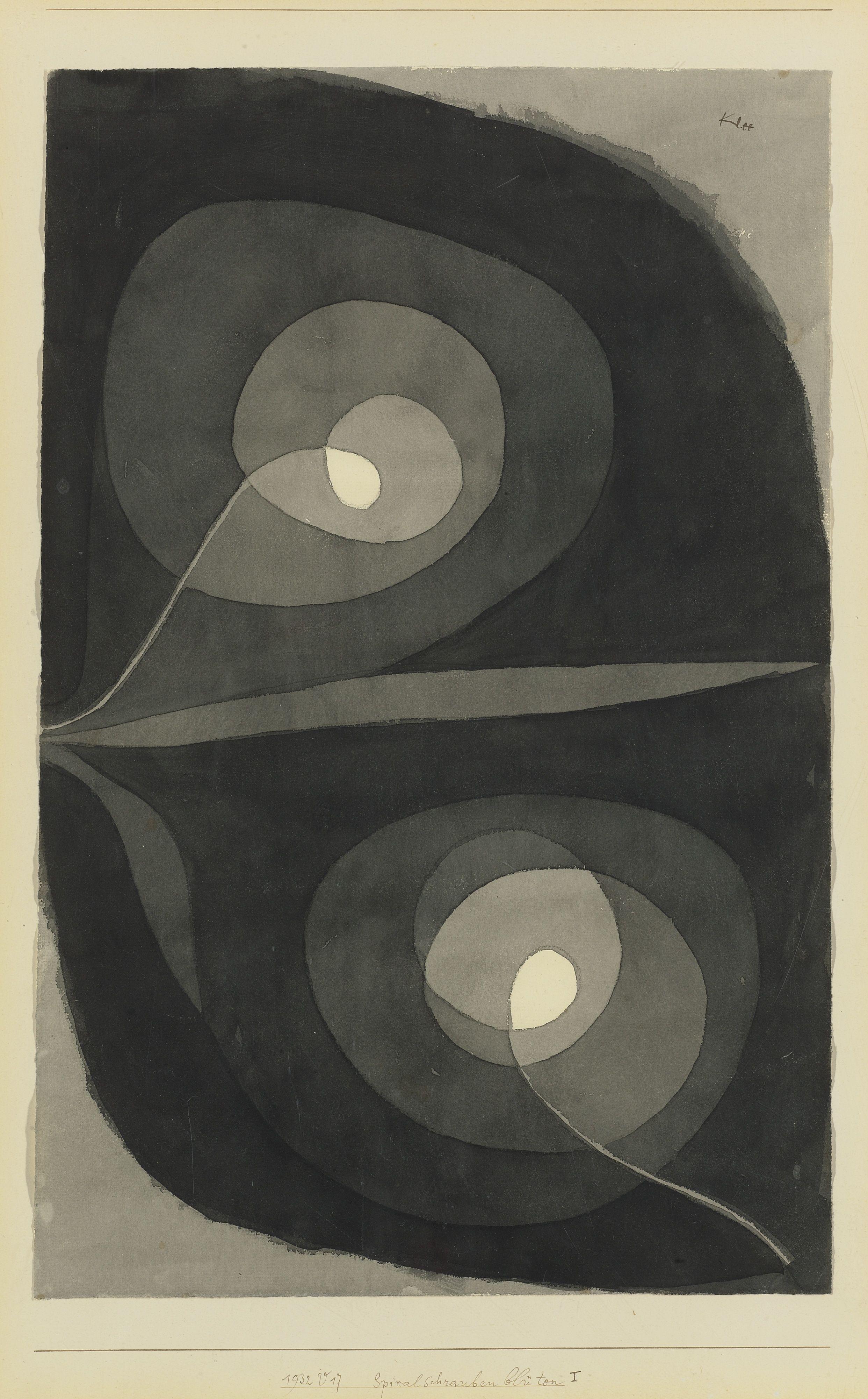 Paul Klee \'Spiralschraubenbluten\' (Spiral Screw Flowers) 1932 ...