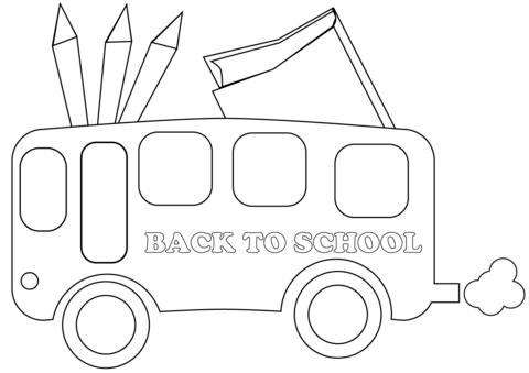 Back To School Bus Disegno Da Colorare Pagine Da Colorare Disegni Da Colorare Colori