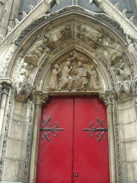 Notre Dame De Paris La Porte Rouge était Réservée Aux Moines