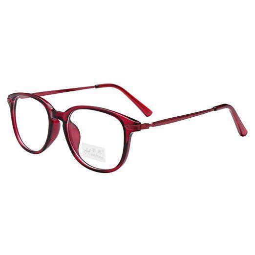 c70f9f243334e Simvey Unisex Classic Retro Designer Oval TR90 Metal Eyeglass Frames 49mm  Review