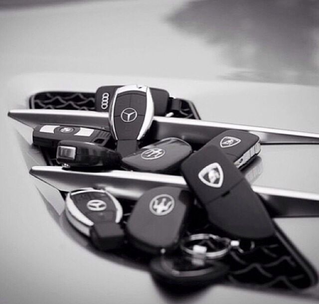 Which one is your key to happiness? #Lamborghini #Mercedes #Maserati #BMW #Audi