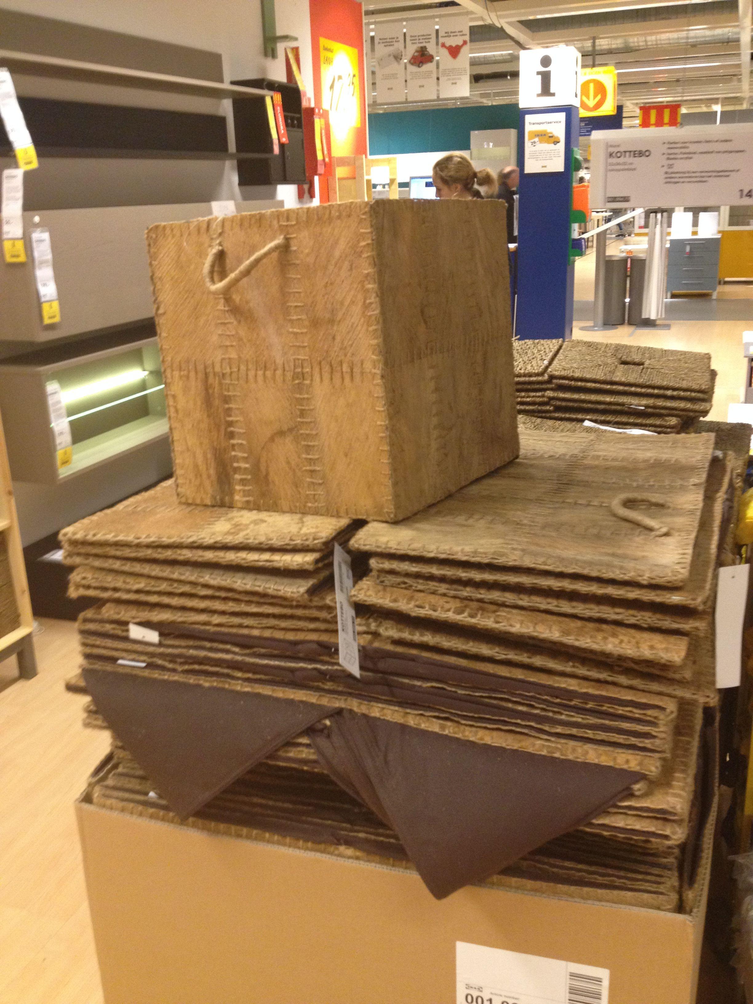 Mooie opbergboxen van Ikea voor in Expeditkast. Passen mooi bij industrial-look!