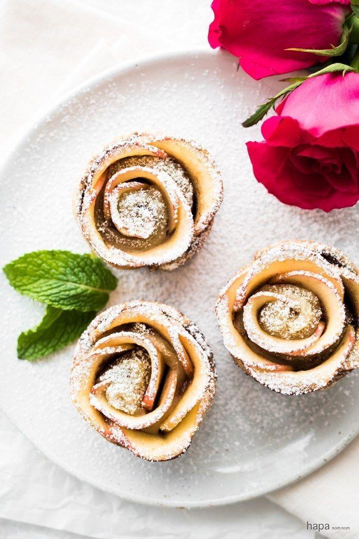 Puff Pastry Nutella Apple Roses Recipe Apple roses