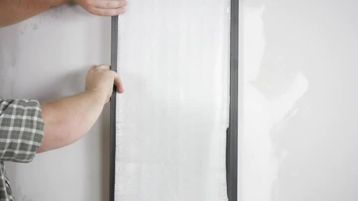 How to remove a mirror from a bathroom wall that was glued